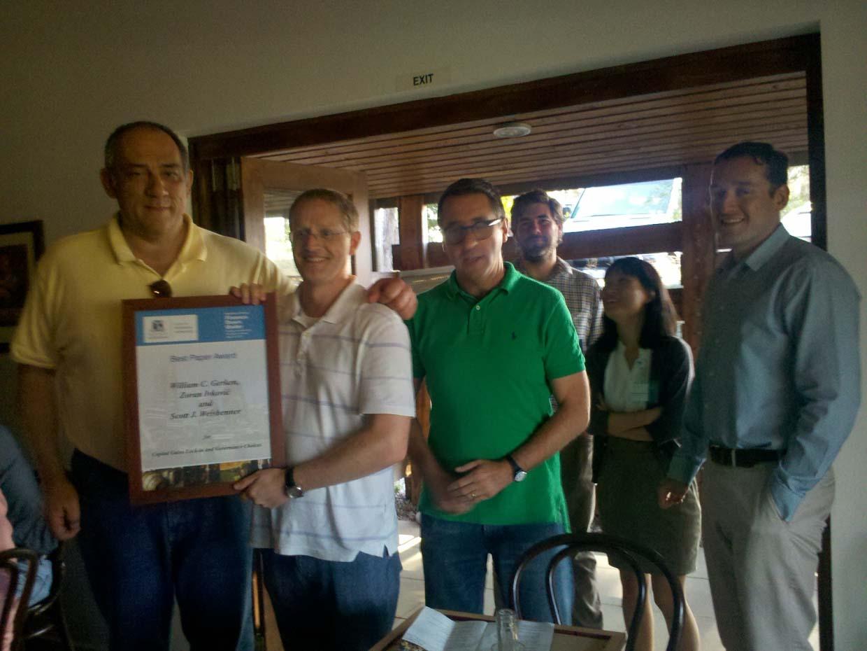 Photo of 2014 FDU Best Paper Award Winners