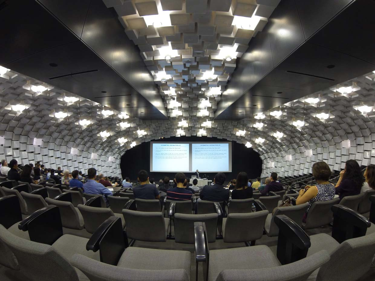 Photo of conference session in lecture theatre