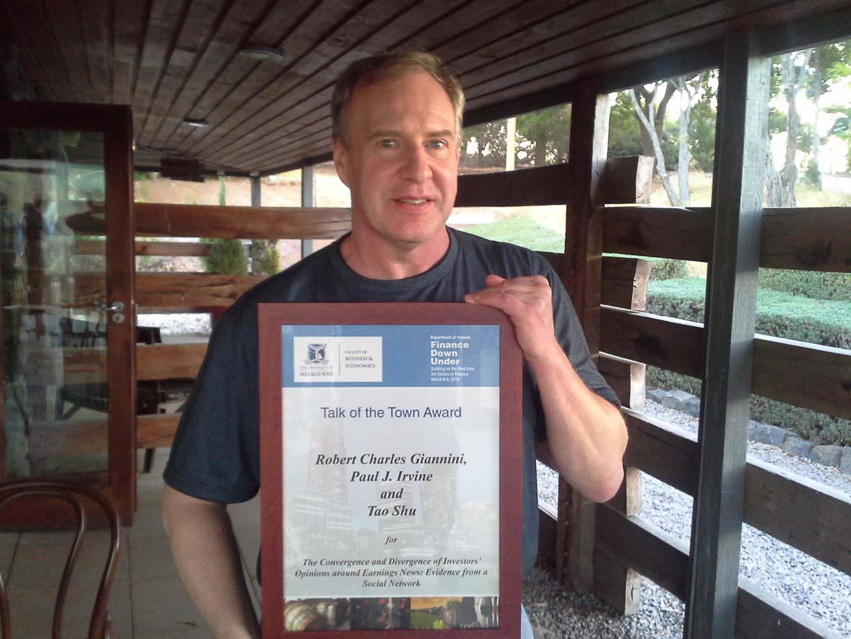 Photo of 2014 FDU Talk of the Town Award winner