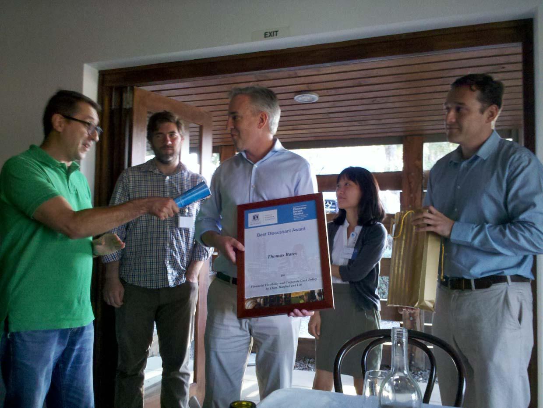 Photo of 2014 FDU Best Discussant Award winner