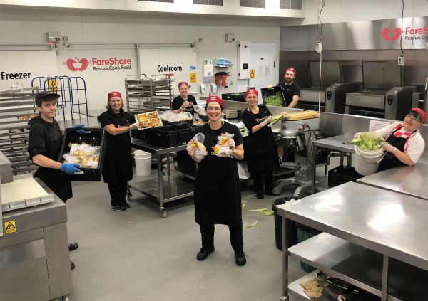 Some of FareShare's kitchen heroes.