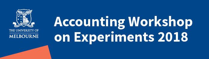 Accounting Workshop on Experiments 2018