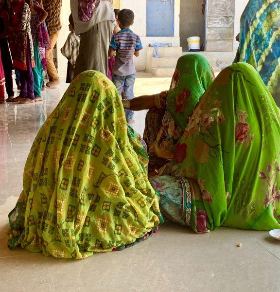 Women wearing scarves