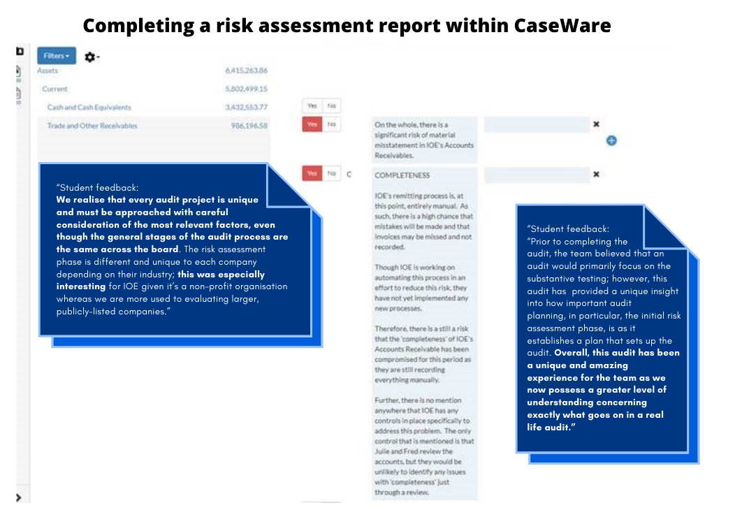 Risk assessment testimonials