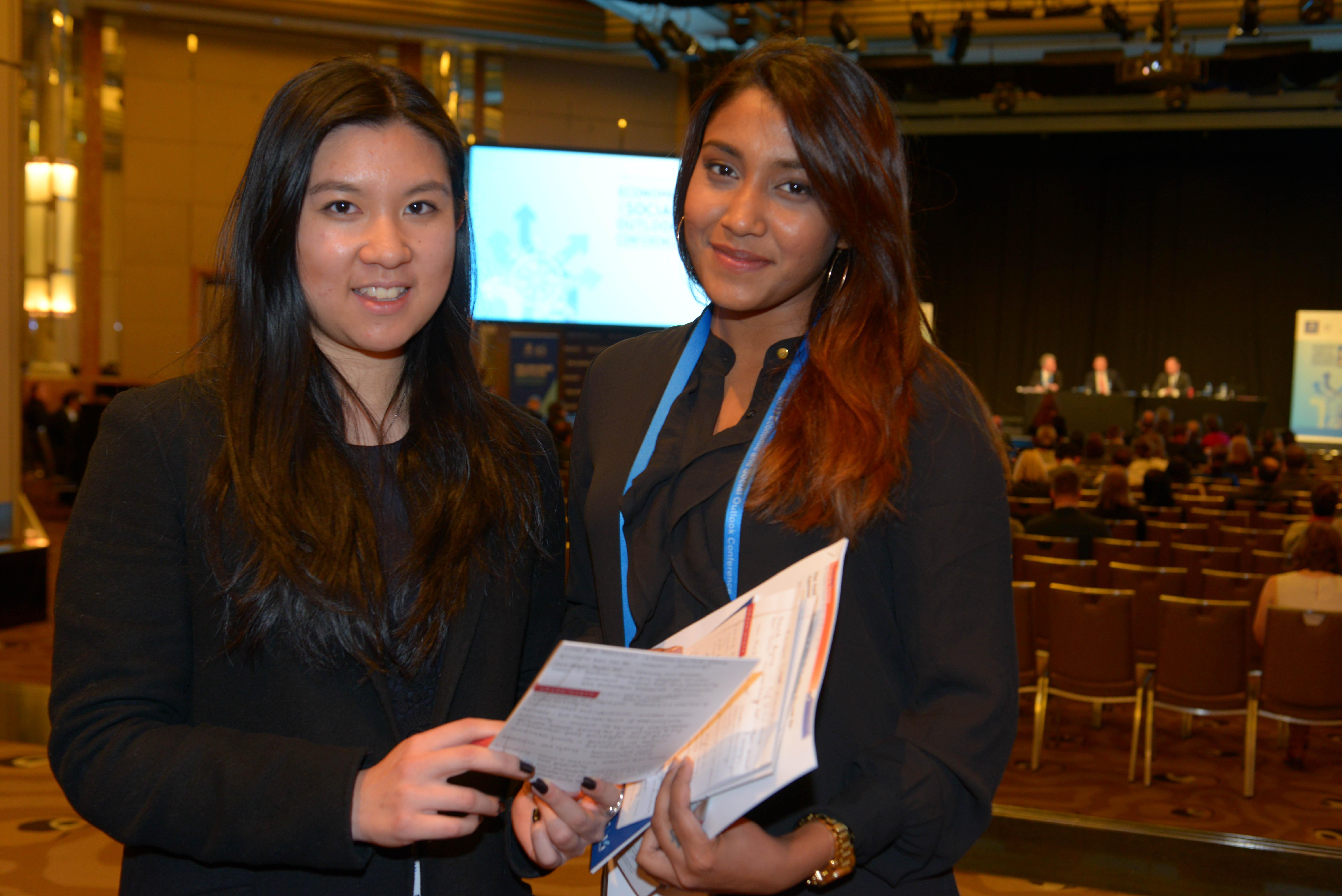 Monique Lau and Akanksha Baadkar at ESOC 2017