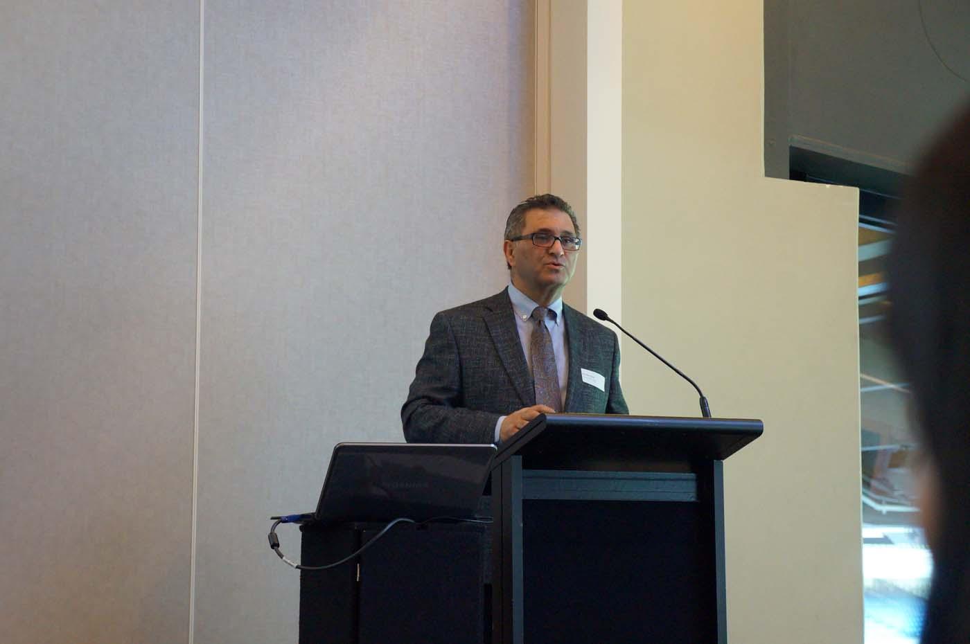 Photo of Ron Giammarino presenting