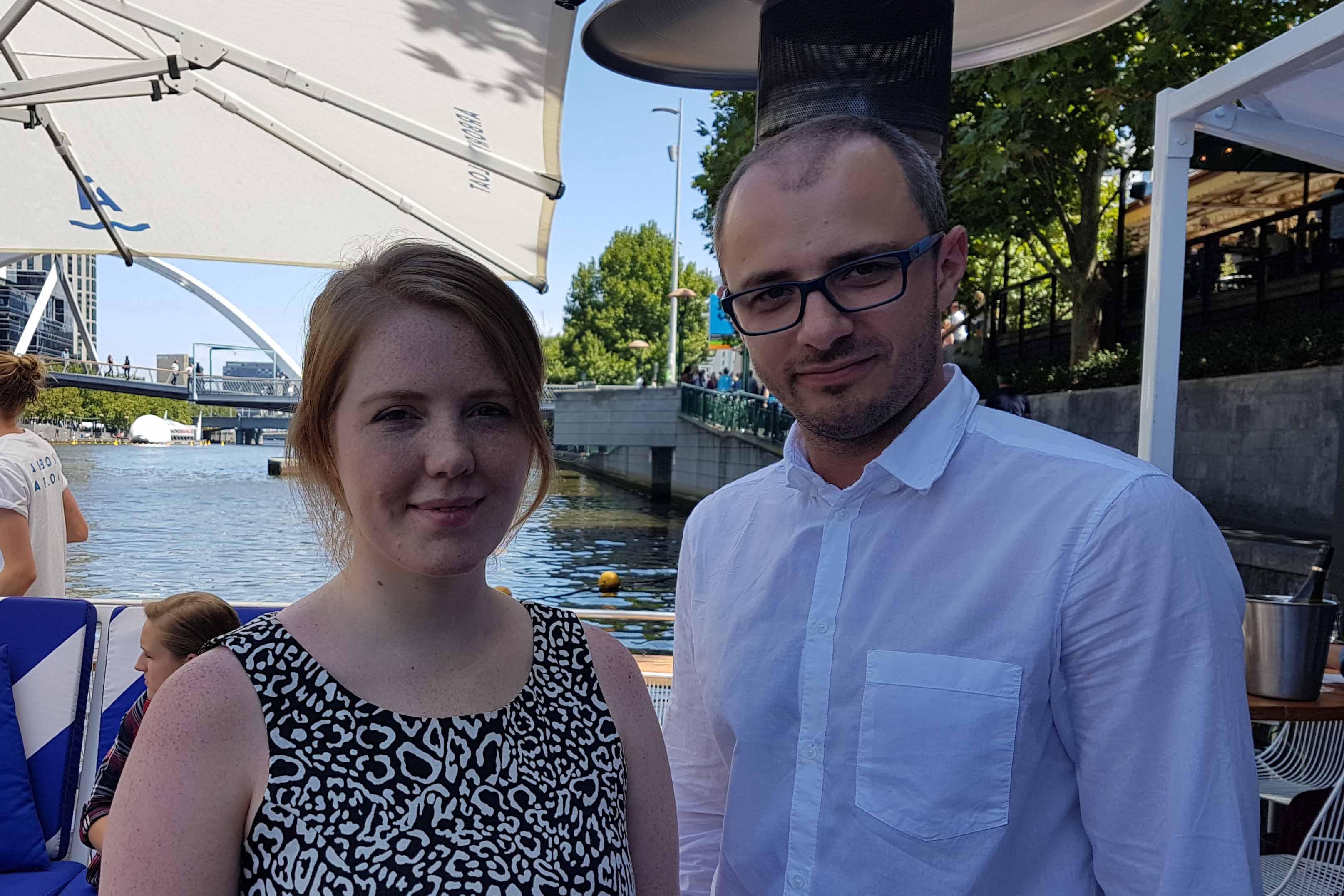 Shelby Ueckermann and Eugene Fedorchenko, regional winners of Ericsson Innovation Awards