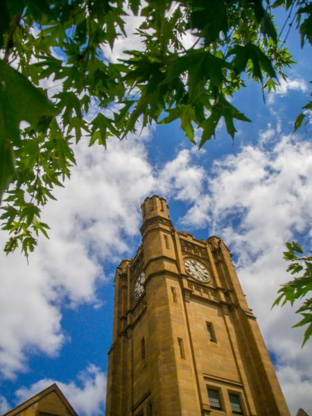 Melbourne University clock tower of the Old Arts Building