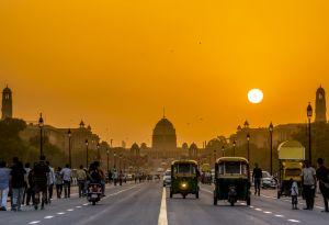 Sunset in New Delhi