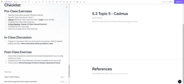 A Cadmus Checklist.