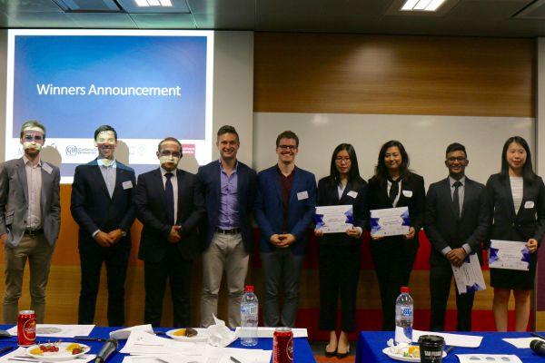 Top 5 finalists alongside judging panel