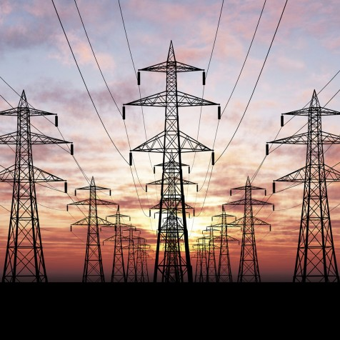 Photograph of electricity grid