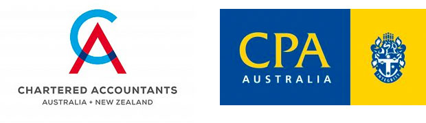 combined Chartered Accountants Australia New Zealand and Certified Practising Accountant logo