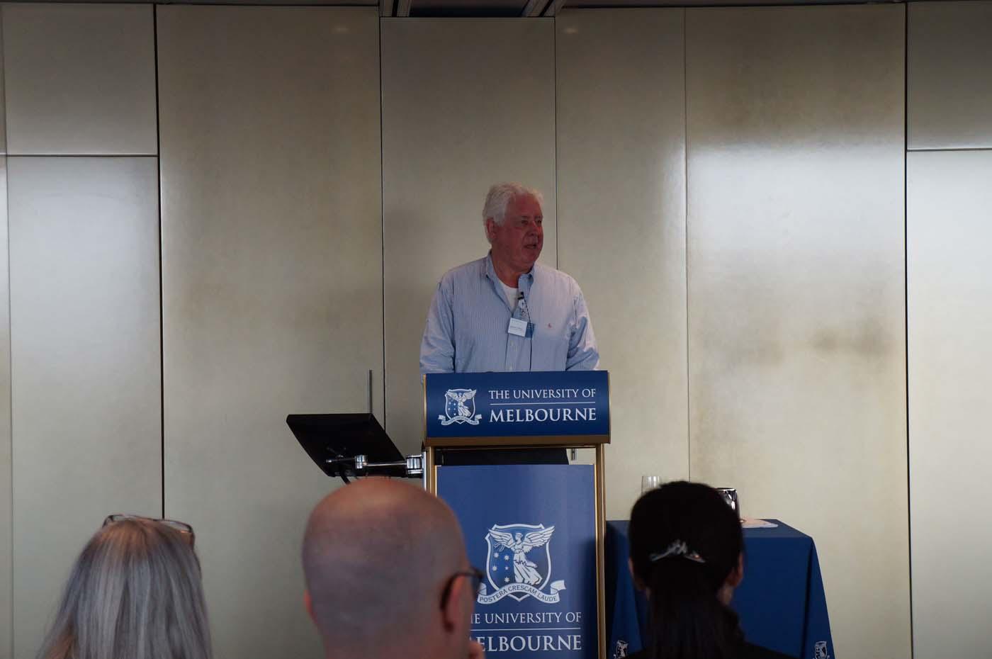 Photo of Stewart Myers presenting