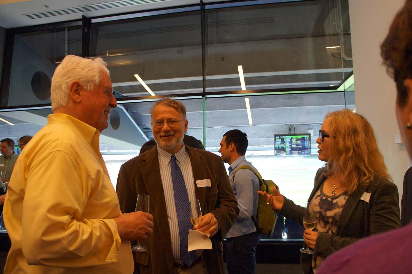 Photo of Stewart Myers, Paolo Fulghieri and Renee Adams